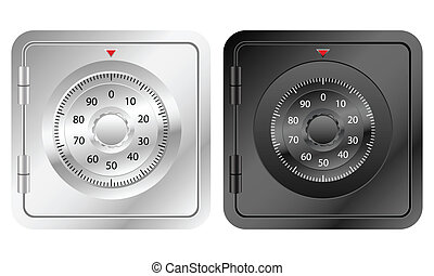 bank safe icon - Bank safe icon on a white background....