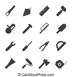 Silhouette Construction icons