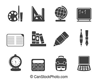 Silhouette education icons - Silhouette School and education...