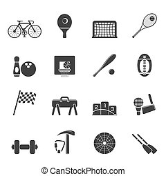 Silhouette Simple Sports gear icons - Silhouette Simple...
