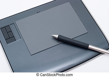 Graphic tablet. Designers  tools for drawing
