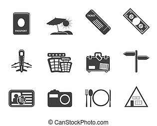 Travel and trip Icons- Vector Icon