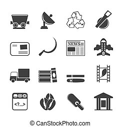 Silhouette industry icons