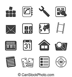 Silhouette Mobile Phone icons