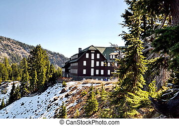 Crater Lake Lodge - Boarded and closed for the season...