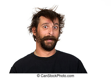 Todd - Goofy young man, with full beard and moustache and...