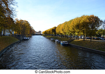 River Moika in St.Petersburg - View of Moika River in...