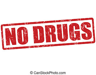 No drugs stamp