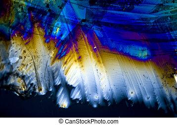 hollín, partículas, microcrystals, polarizado,...