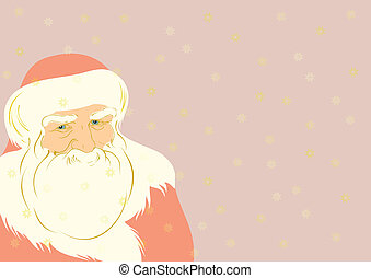 Father Christmas illustration - Vector illustration of...