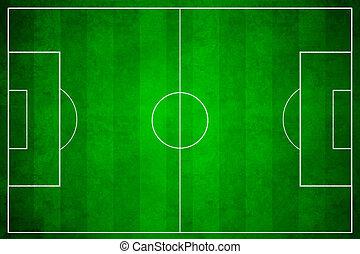 3D, image, vert, football, champ, football
