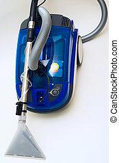 Vacuum cleaner - Modern washing vacuum cleaner on grey...