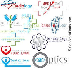 Set of medical logos icons