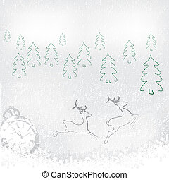 Abstract winter Christmas New Year background - Abstract...