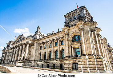 Bundestag in Berlin, Germany - Bundestag (Reichstag) in...