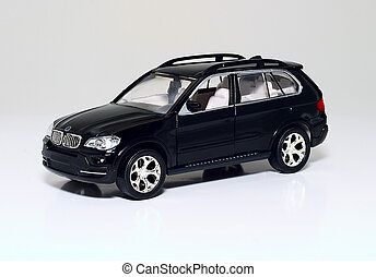 Model car - Model of modern prestige car on a light...