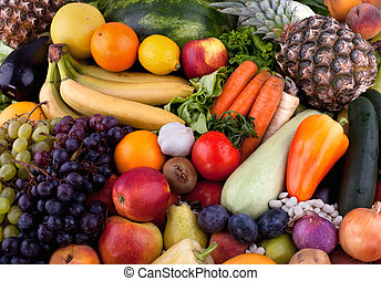 Fruits and vegetables - Collection of fruits and vegetables