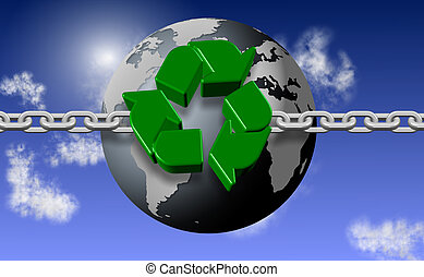 Recycling chain and earth