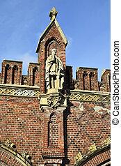 Friedland gate neo-gothic fortress 19th century Kaliningrad...