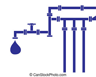 water pipeline - Seamless background of water pipeline....