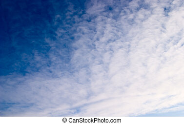 Sky - Natural photo of the sky, midday, winter, northern...
