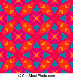 Multicolor geometric pattern in bright color Vector seamless...