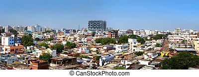 Old Hyderabad Panorama - HYDERABAD,INDIA -SEPTEMBER 1: Slums...
