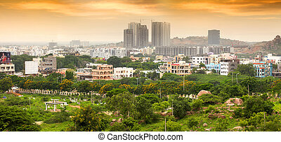 Hyderabad new growth In India - HYDERABAD INDIA - August 29...
