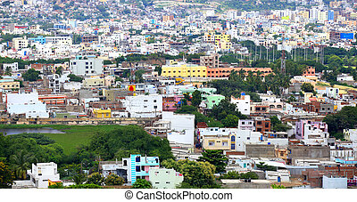 Hyderabad cityscape - HYDERABAD INDIA - August 28 :...