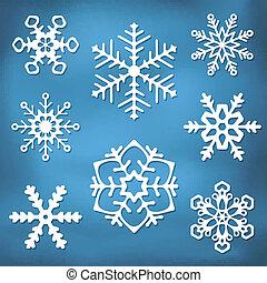 Ornate Snowflake silhouettes
