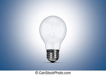 Light Bulb - Light bulb on blue background.
