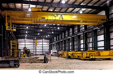 New Steel Factory Cranes - Overhead cranes in new steel...