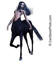Female Gothic Centaur - Female gothic centaur with black...