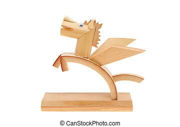 bambú, juguete, caballo