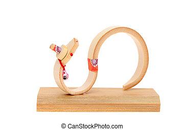 bambú, juguete, serpiente