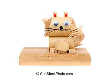 bambù, Giocattolo, gatto