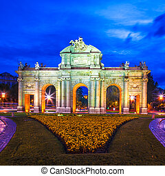 Madrid, Spain - Puerta de Alcalá, Madrid, Spain