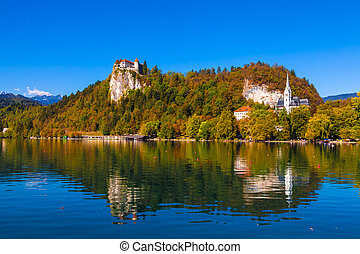 Lake Bled, Slovenia - Lake Bled in Slovenia on a Sunny Day...