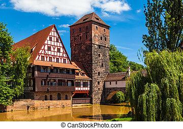 Nuremberg, Germany - The Weinstadel building Wine Store in...