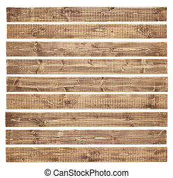 Wooden planks - Old wooden planks isolated on white...