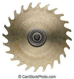 Circular saw - Old rusty circular saw blade