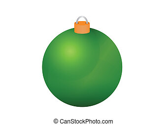Christmas bauble - Colorful christmas glass bauble vector...