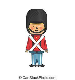 Soldier in uniform - Happy soldier in red uniform