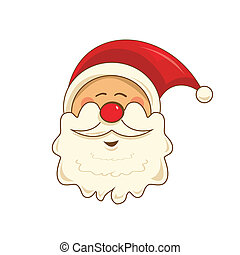 Santa Claus - Vector design of Santa Claus in vintage colors