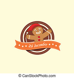 Gingerbread Man christmas label