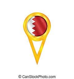 Qatar pin flag