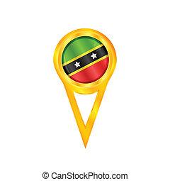 Saint Kitts & Nevis medal flag