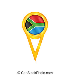 South Africa pin flag