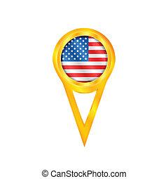 USA pin flag
