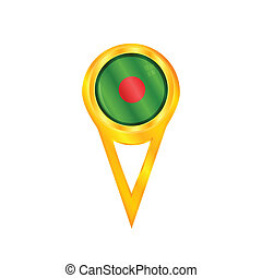 Bangladesh pin flag